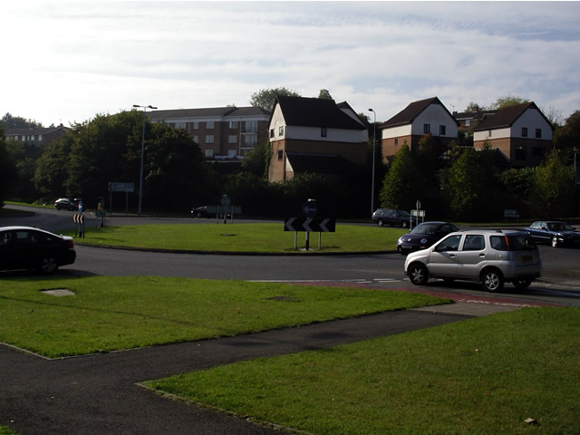 Roundabout on Badger Farm Road