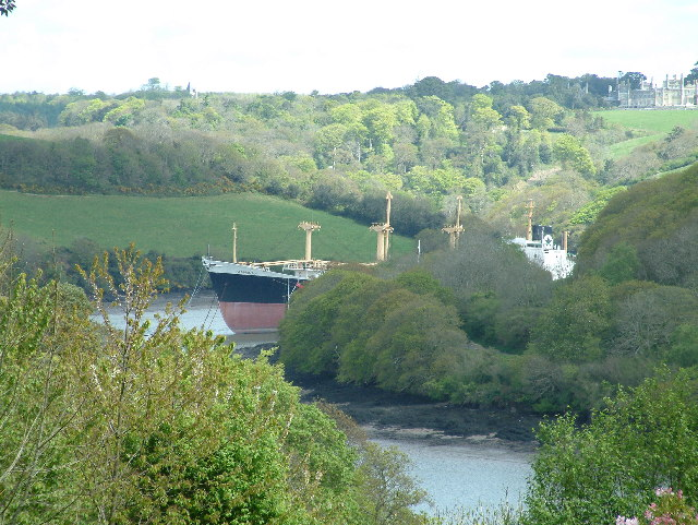 TAMAMIMA (EX CRESTBANK) Laid up in the River Fal