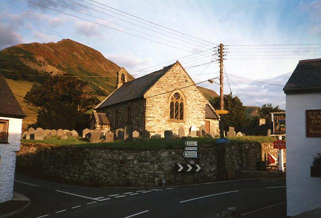 Llangynog: church