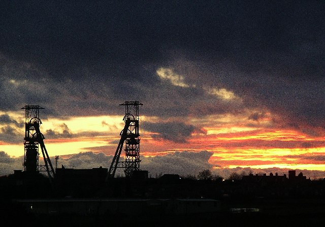Clipstone Colliery headstocks