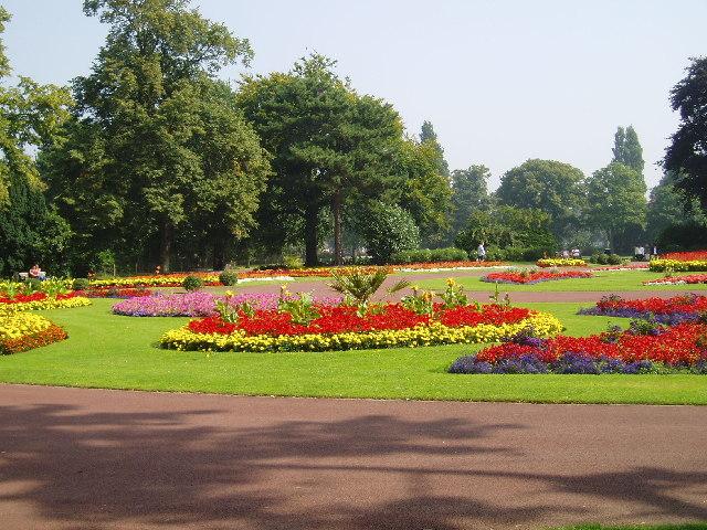 Formal flower beds, West Park, Wolverhampton.