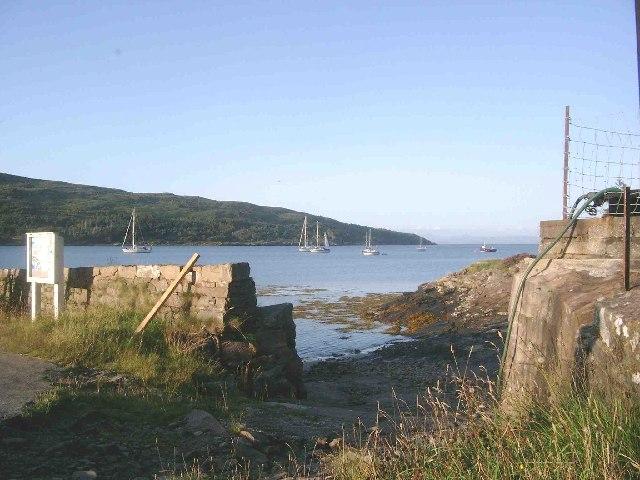 The anchorage at Loch Scresort, Rum