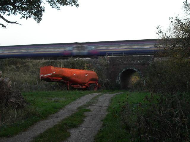Railway bridge over farm track