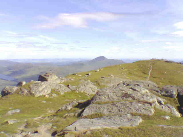 View south east from the lower summit of Ben Vorlich