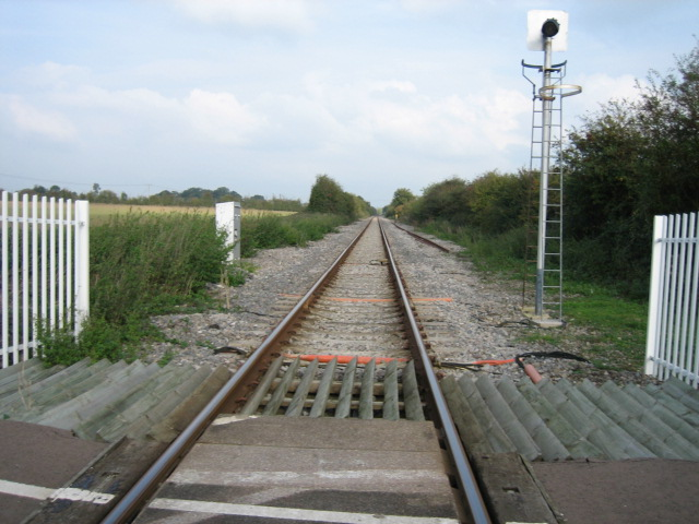 Railway looking north-east towards Bicester
