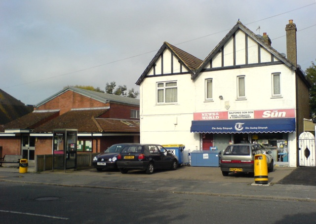 Salfords Community Centre, Public Phone Box and News Agent