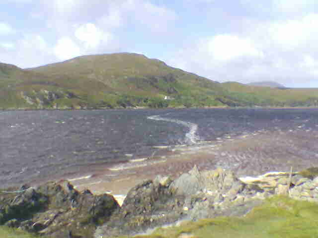 View over the Kyle of Durness to the Cape Wrath road