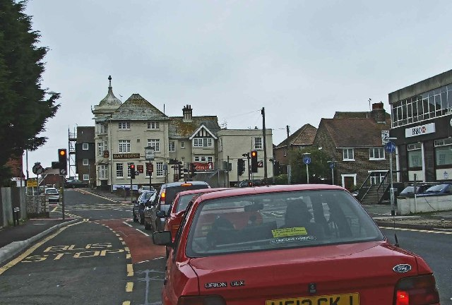The Bay Hotel from the A259 Pevensey Bay