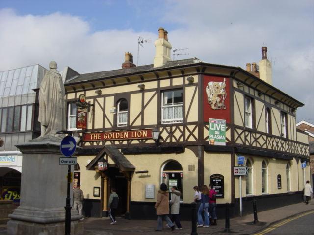 The Golden Lion and Monument, Ormskirk