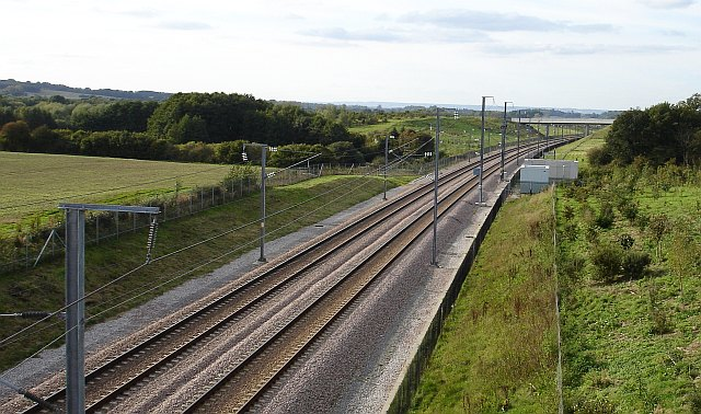 Channel Tunnel Rail Link from bridge 825