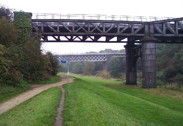Twin Railway Bridges, Warmsworth, South Yorkshire.