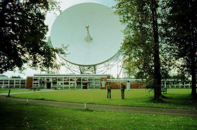 Jodrell Bank radio telescope dish