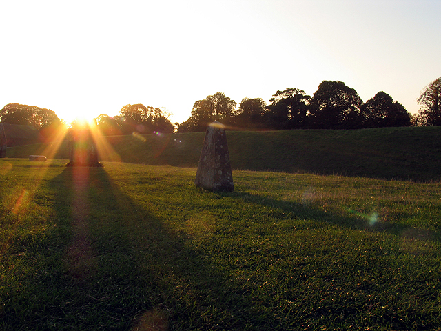 Sunset in the north western section of Avebury