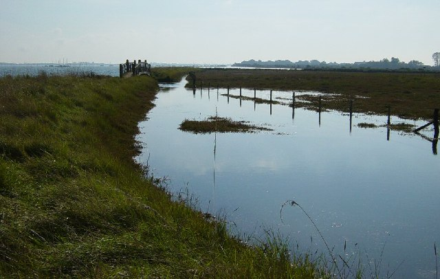 Bridge between the Thorney Channel and Thorney Island Saltwater Marshes