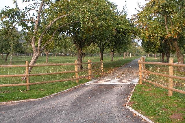 Entrance to Castle Farm near Shucknall