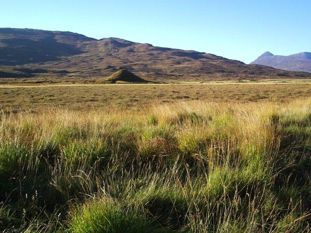 An odd shaped mound