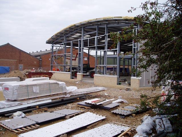 Construction on South Cambridge Business Park, Sawston