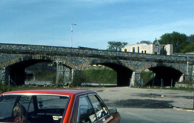 Railway arches, former Devonport Railway Station, 1979