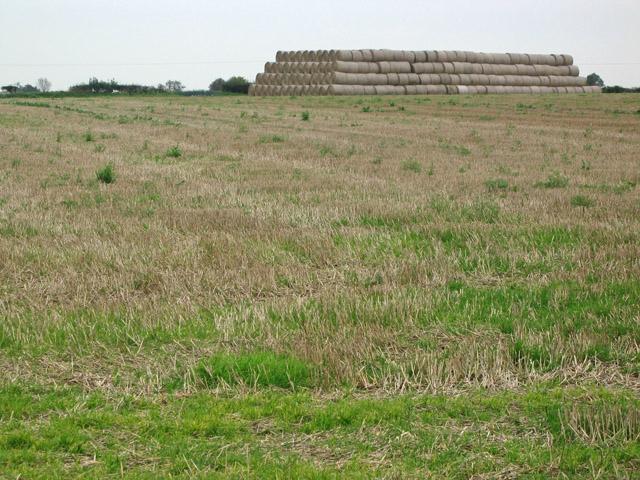 Giant haystack near Stonesby