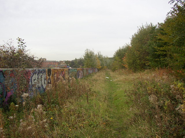 Disused mineral tramway, Savile Street, Batley