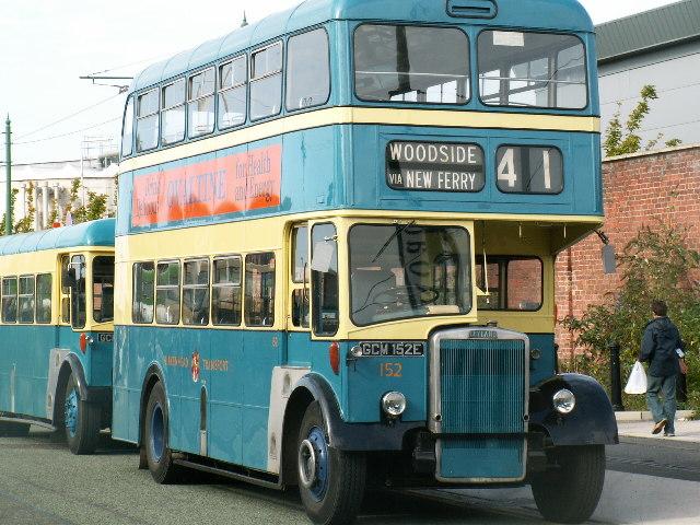 Birkenhead blue bus.
