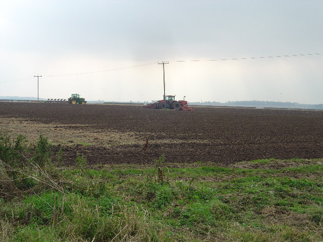 Autumn ploughing at Cowlam