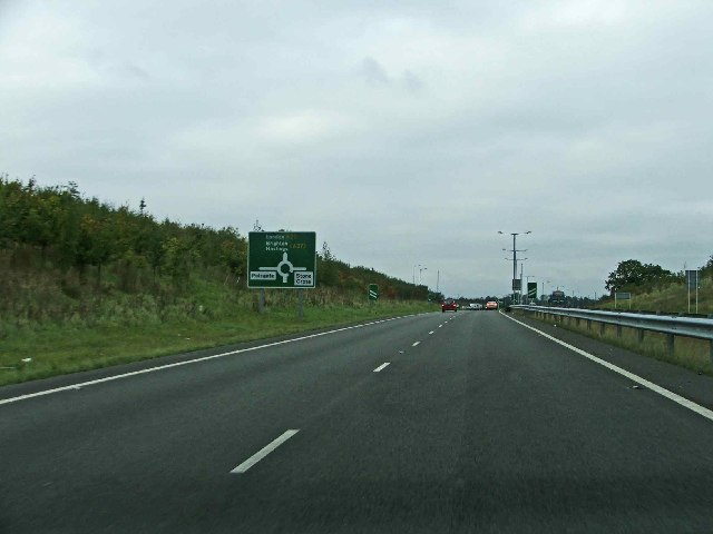 A22 northbound on way to junction with A 27