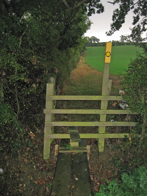 Stile on Croxton Lane, near Harston