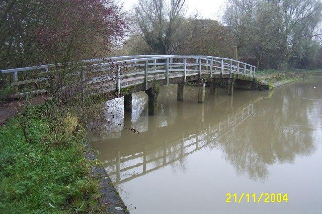 Oxford: Footbridge over Bulstake Stream, Osney