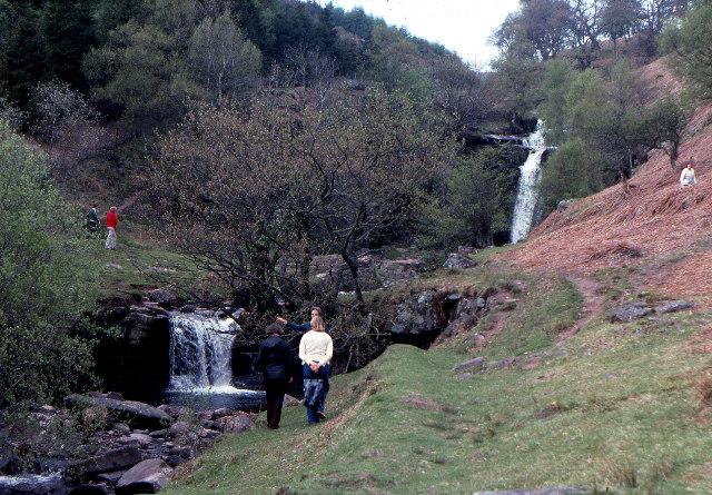 Waterfalls on the Caerfanell, Blaen y Glyn, 1979