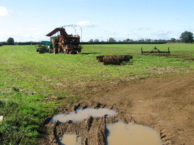 Farm machinery, near Eastwell