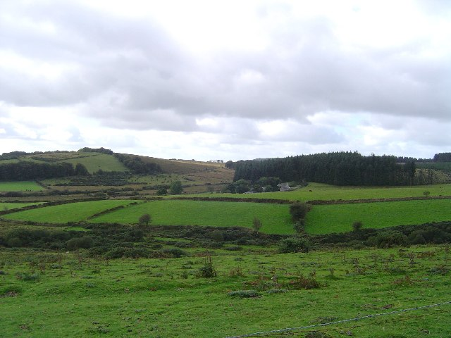 Soussons Farm from Challacombe Down
