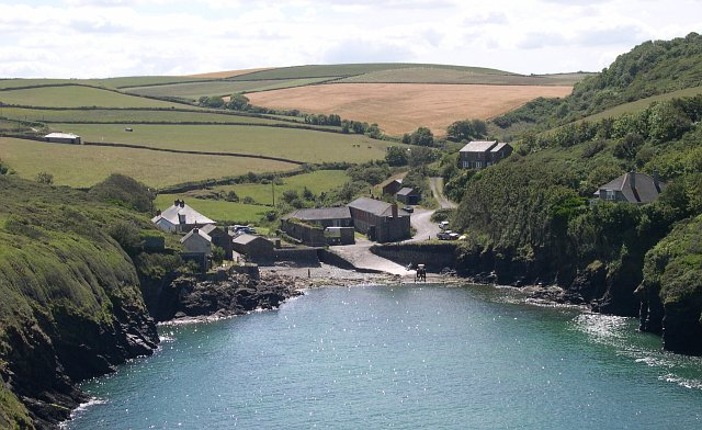Port Quin and the fields beyond
