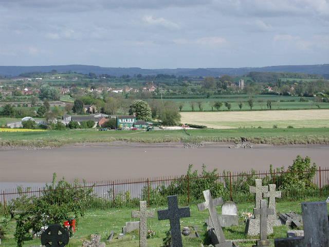 Arlingham (Glos) from the churchyard in Newnham on Severn