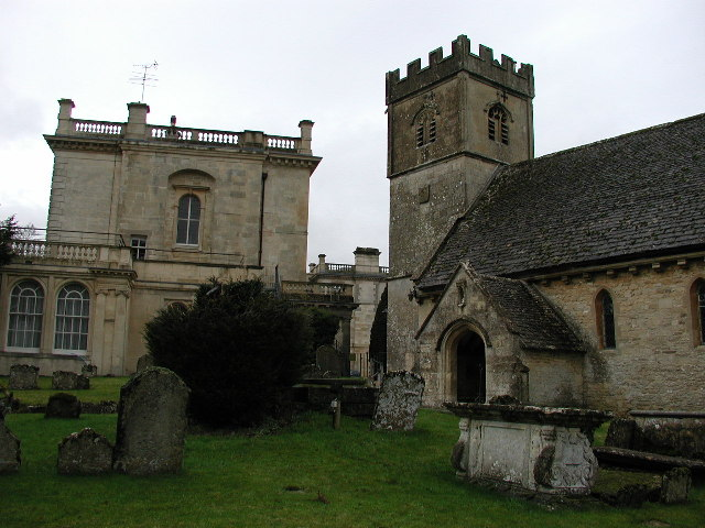 Cowley (Glos) St Mary's Church and Manor House