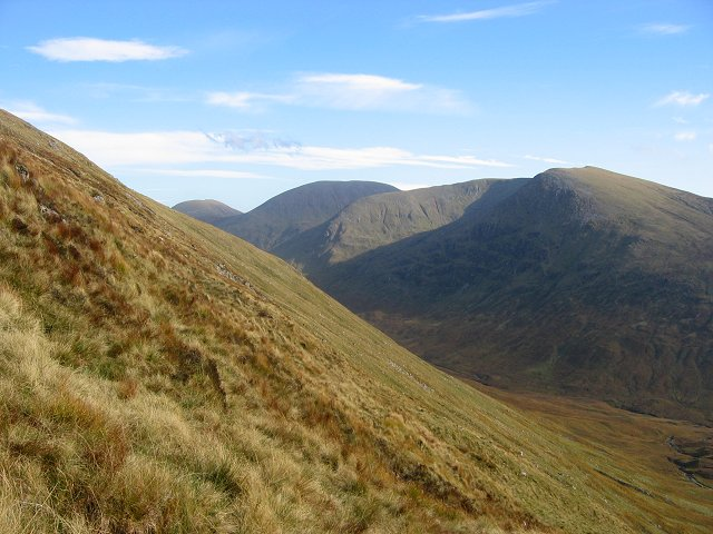 South slopes of Meall na h-Eilde.