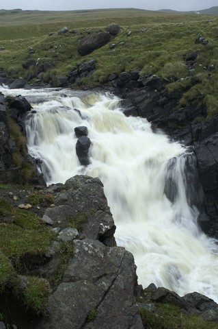 Waterfall of Abhainn Rangail at Harris