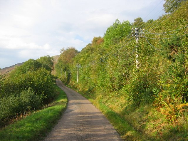 Loch Long road.