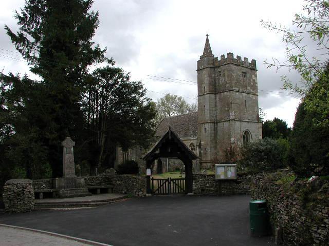Kingscote (Glos) St John's Church and War Memorial