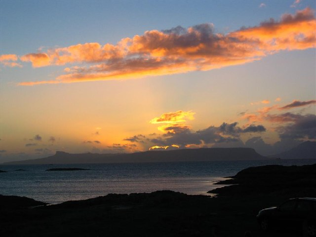 Sunset over Eigg, from Traigh