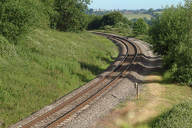 Railway at Aston Magna, looking NNW