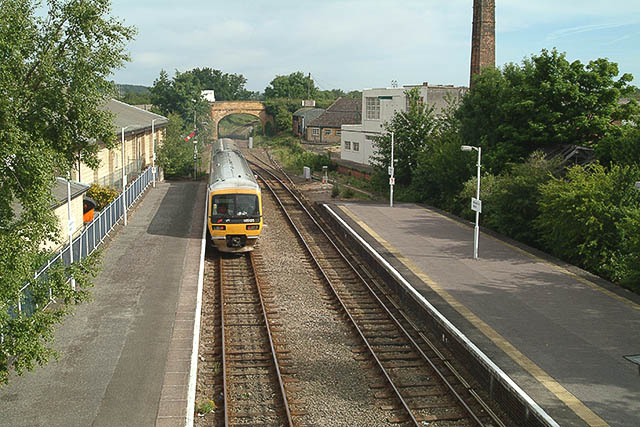 Moreton-in-Marsh station, looking north