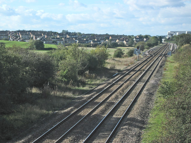 Railway track approaching Melton Mowbray