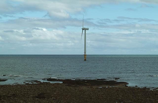 Wind turbine off Crab Law rocks