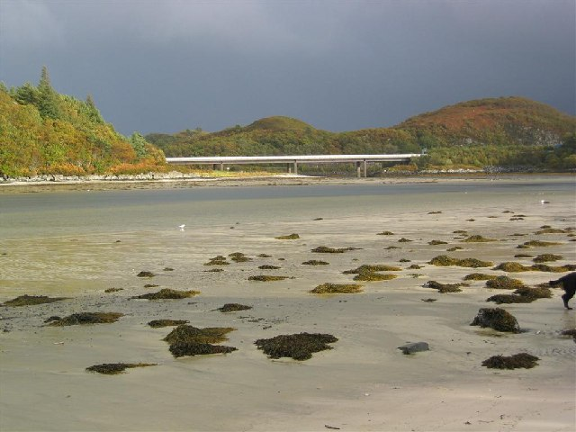 The A830 Bridge from the Morar Sands