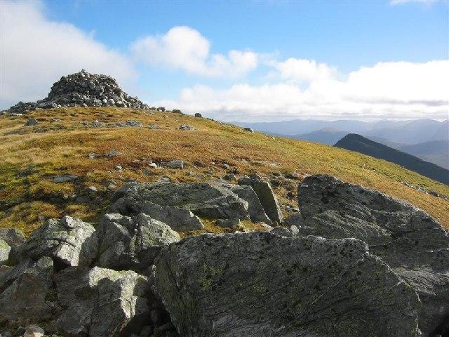 Summit Cairn, Sgurr a Mhaim, 3,605 feet (1099 m)