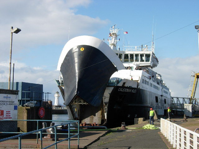 The 'Caledonian Isles' berthing at Ardrossan
