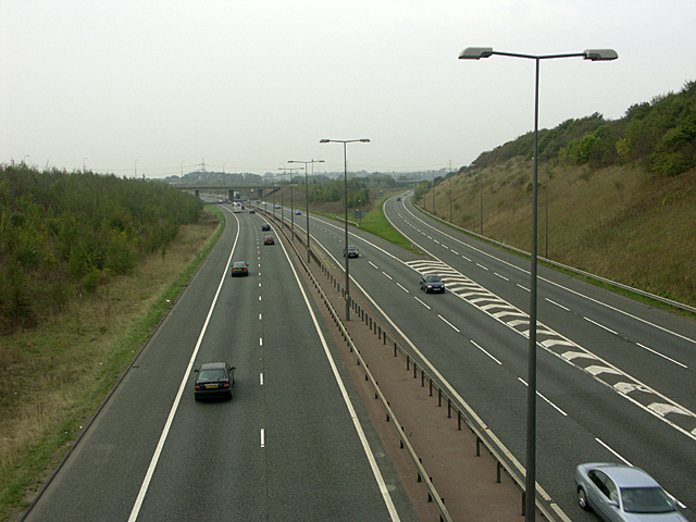 M4 and M48 Motorway junction at Awkley Hill