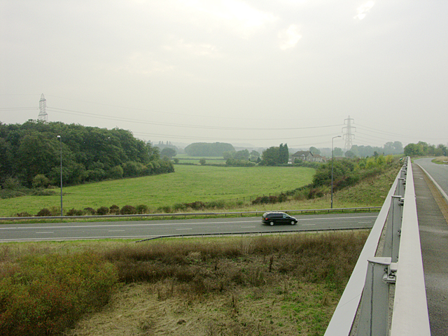 The Niatts from bridge over M4 - M48 Junction 21