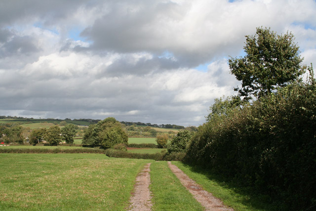 Sampford Peverell: track to Lower Town